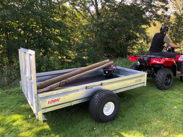 Off-Road 4X4 UTV ATV Trailer OXR being towed