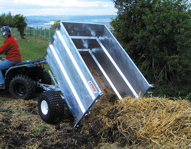 High-Sided Tipping ATV Trailer TGT400 on site