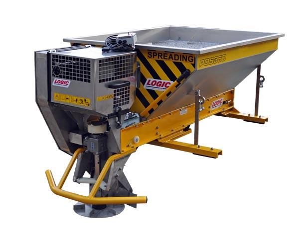 Deck Mount Powered Salt Spreader PDS354D for Pickup (Equestrian)