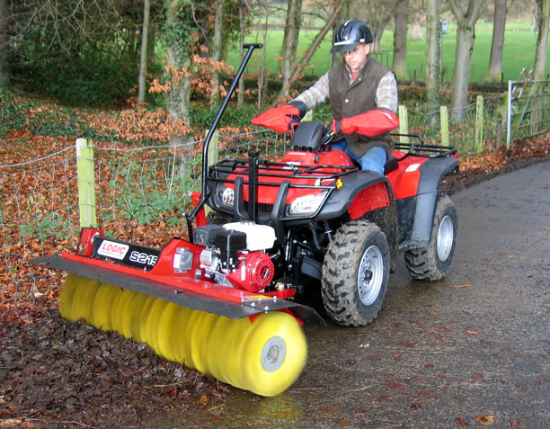 Power Brush S215 for equestrian use on site
