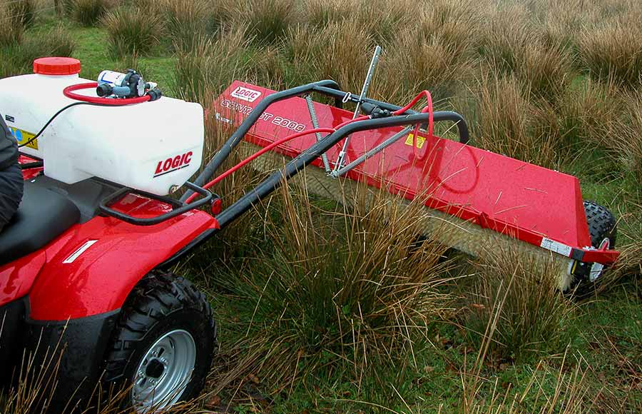 CTF Towed ATV Weed Wiper on site