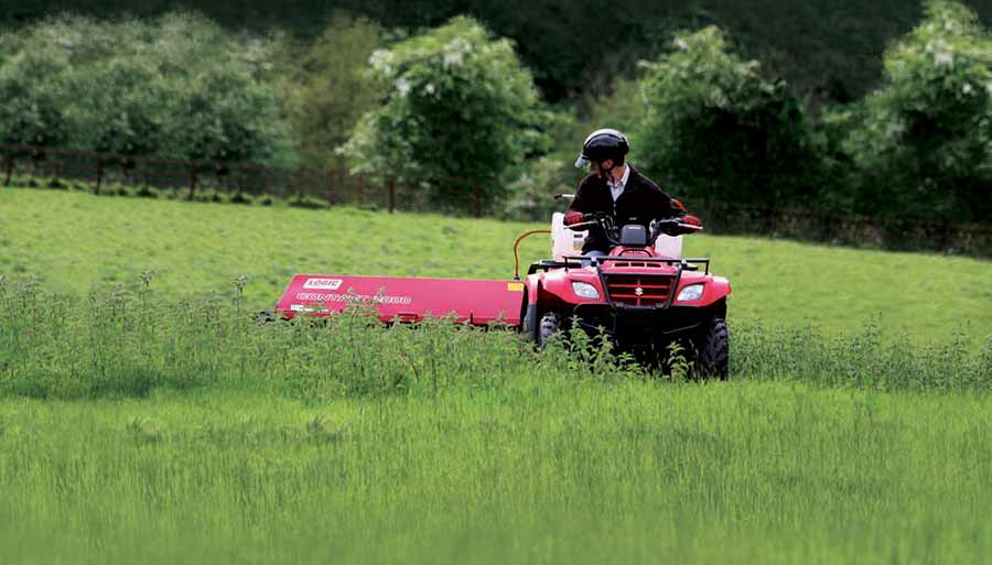 CTF Towed ATV Weed Wiper at work