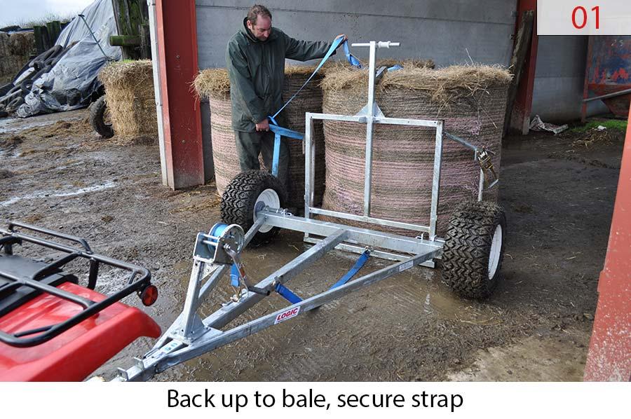 Round Bale 4X4 UTV ATV Trailer LBT how to 01