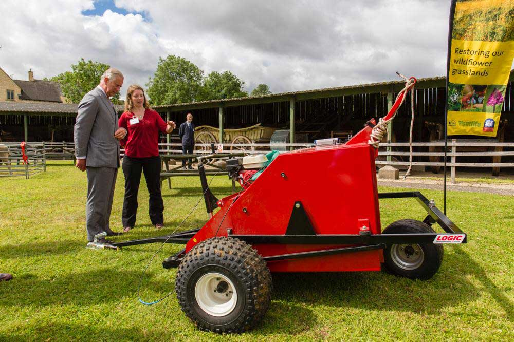 HRH Prince Charles with Seed Harvester MSH420