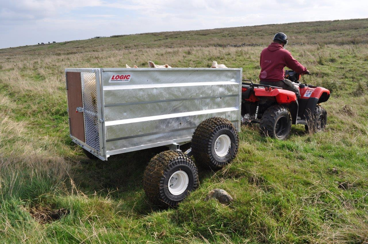 twin axle version of High-Sided ATV Trailer SST  by Logic