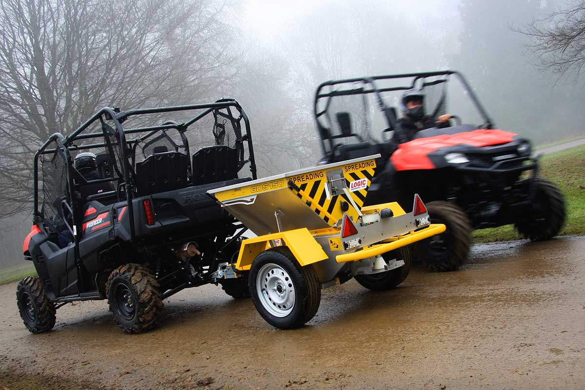 Quad ATV Salt Spreader GDS150 pictured on site 04