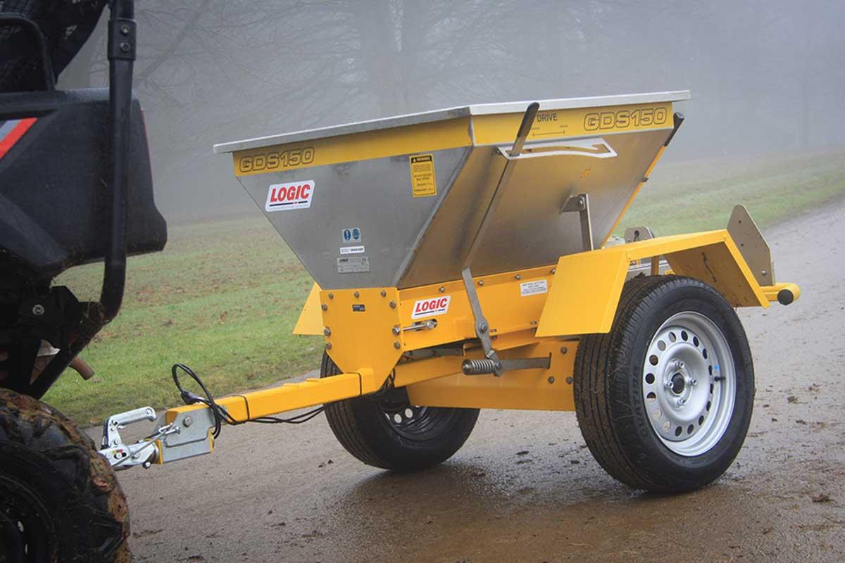 Quad ATV Salt Spreader GDS150 pictured on site 03