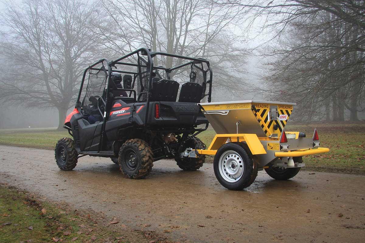 Quad ATV Salt Spreader GDS150 pictured on site 01