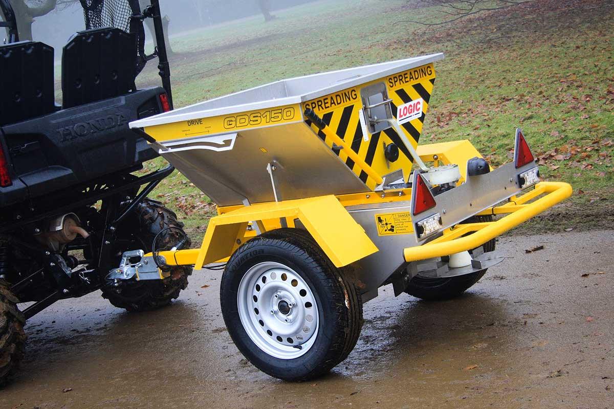 Quad ATV Salt Spreader GDS150 pictured on site 05