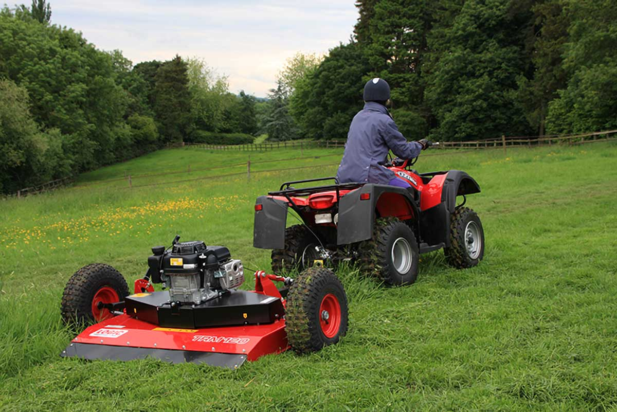 Logic Rotary Mower/Topper TRM120 in use