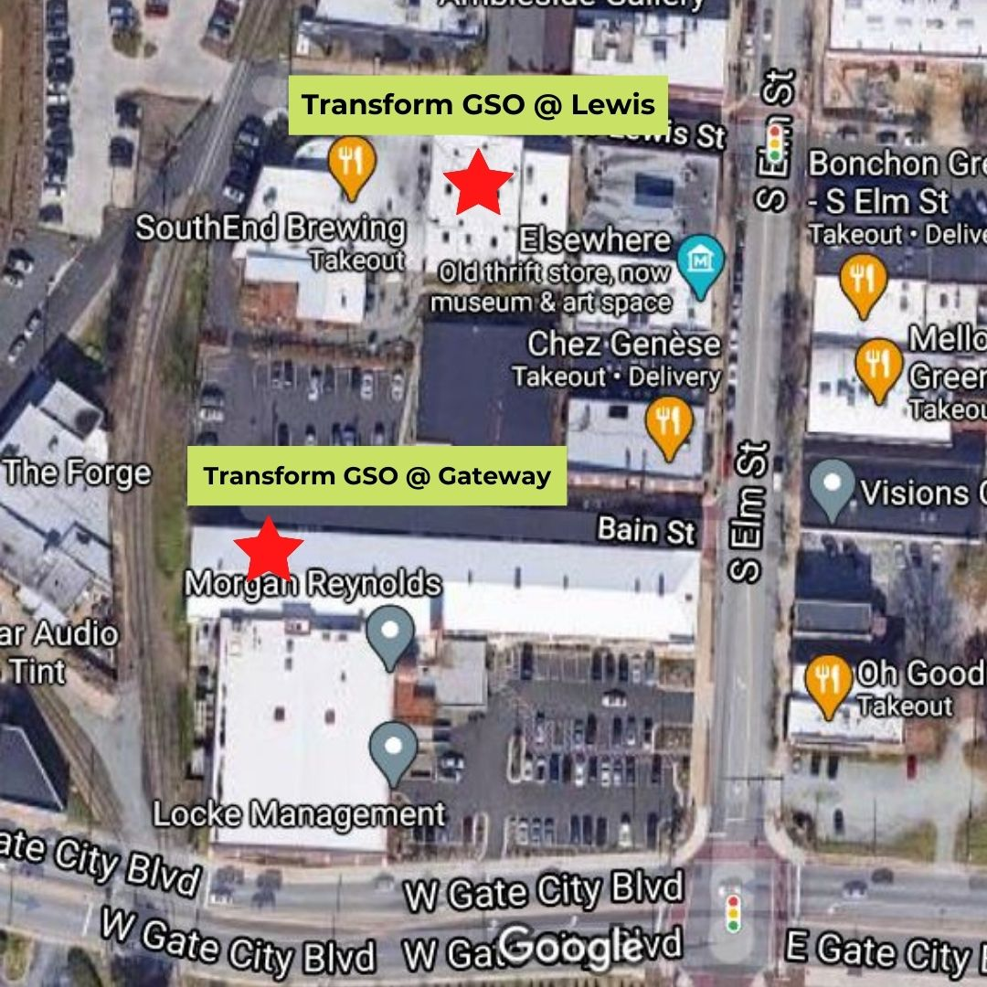 Map of Transform GSO Locations