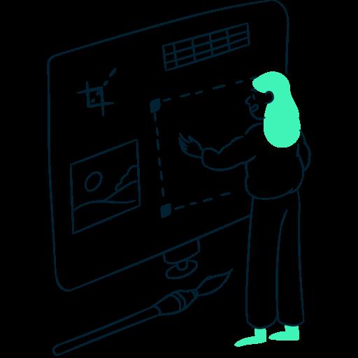 An illustrative representation of product design.