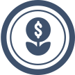 plant with money sign icon