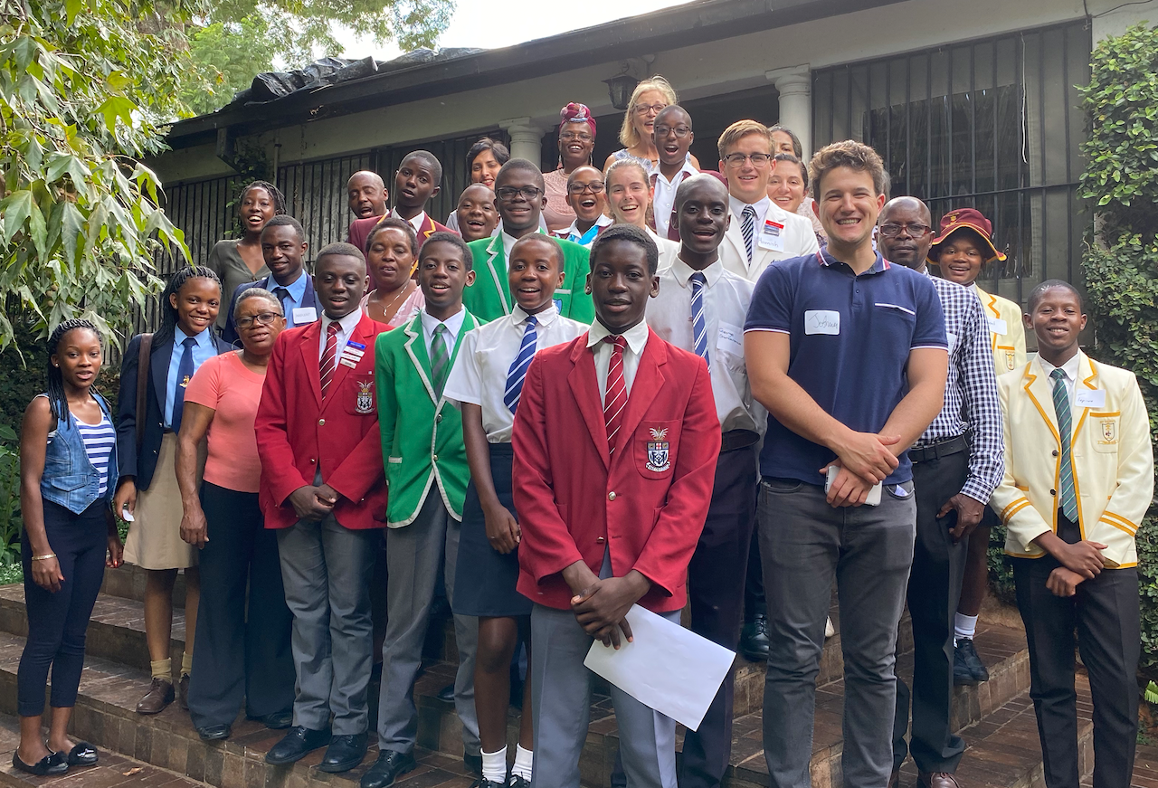 A group of students and educators in Zimbabwe