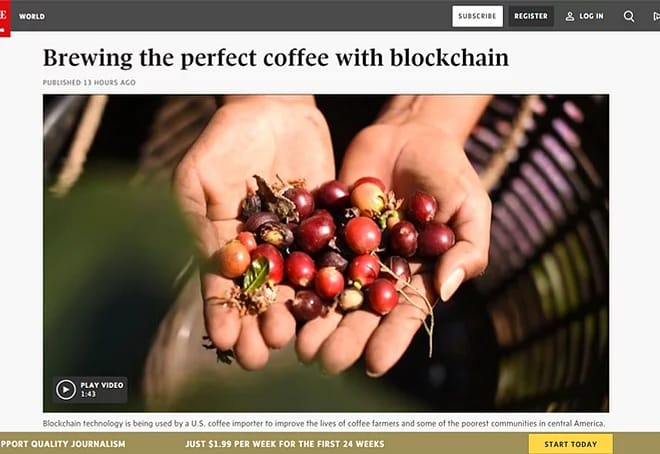 Brewing the Perfect Coffee with Blockchain (Video)