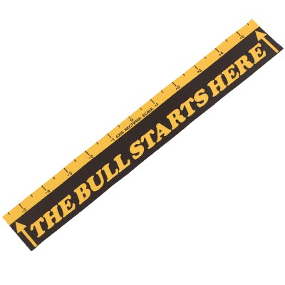 """The Bull Starts Here"" Throw line Marker"