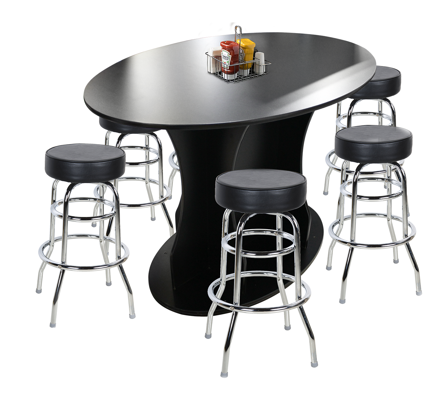 Pub Table shown with barstools (not included)