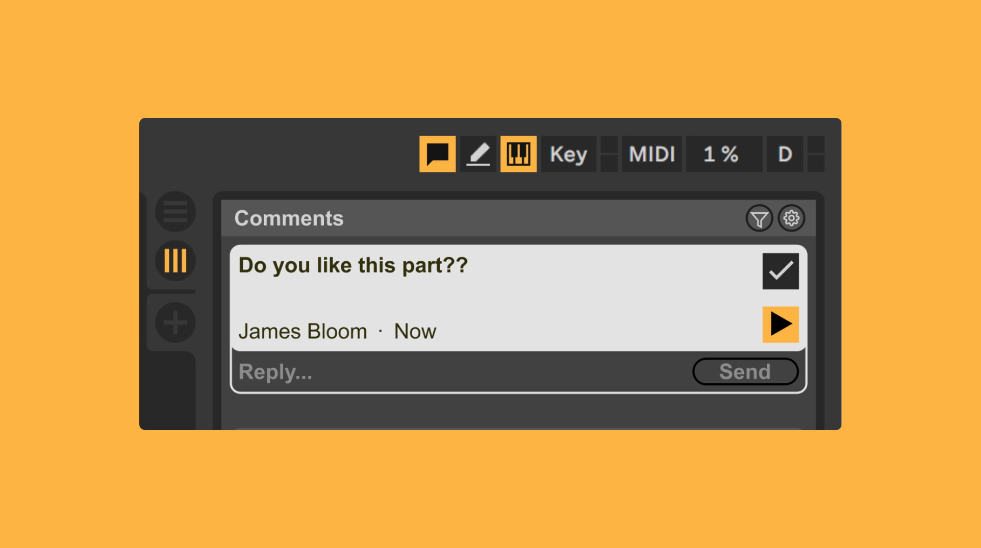 Highlighted comment in Ableton Live