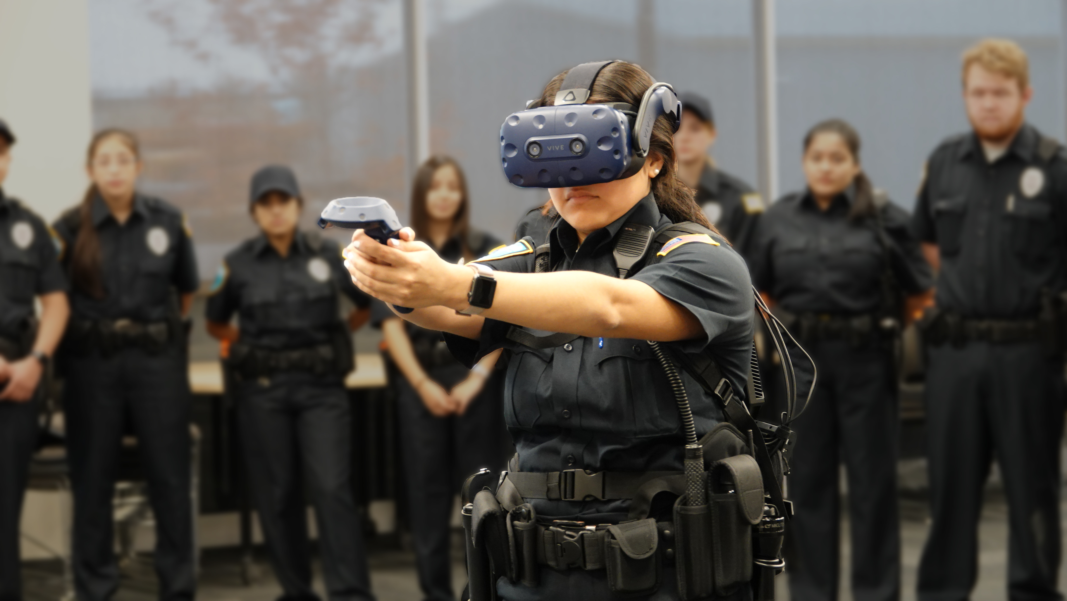 Criminal Justice Students Training Using Apex Officer Virtual Reality Training Platform