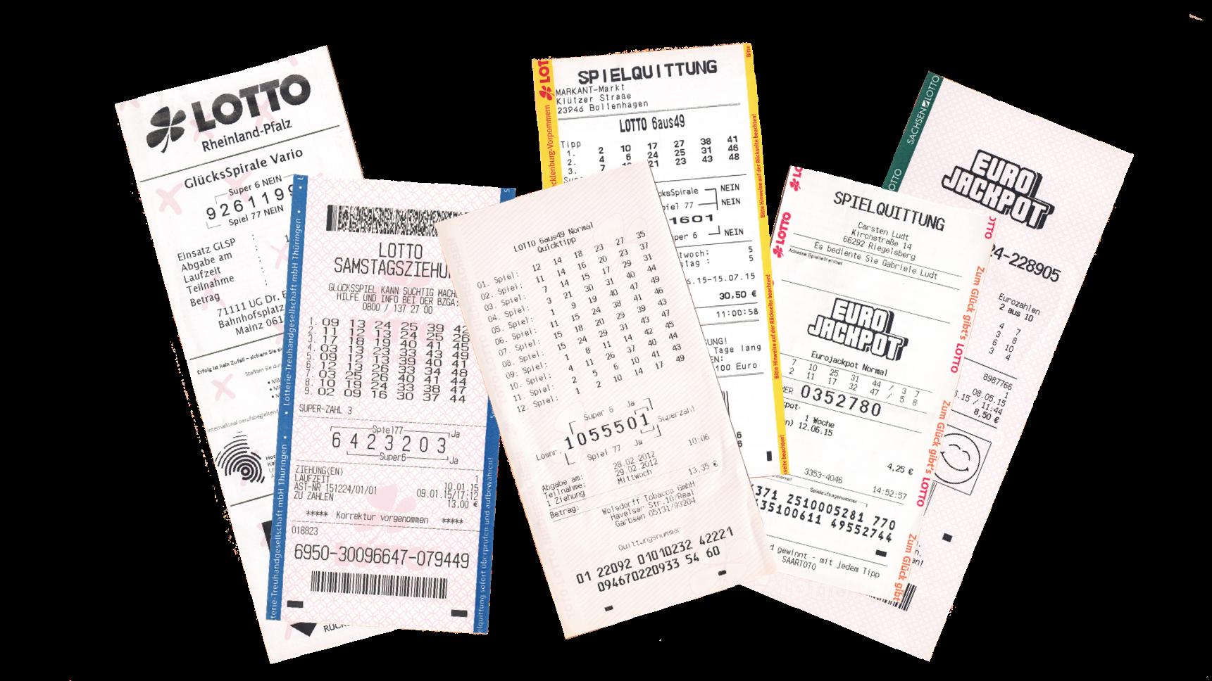 Lotto Scanner - QR- und Barcodes auf den Lotto-Quittungen der deutschen Bundesländer