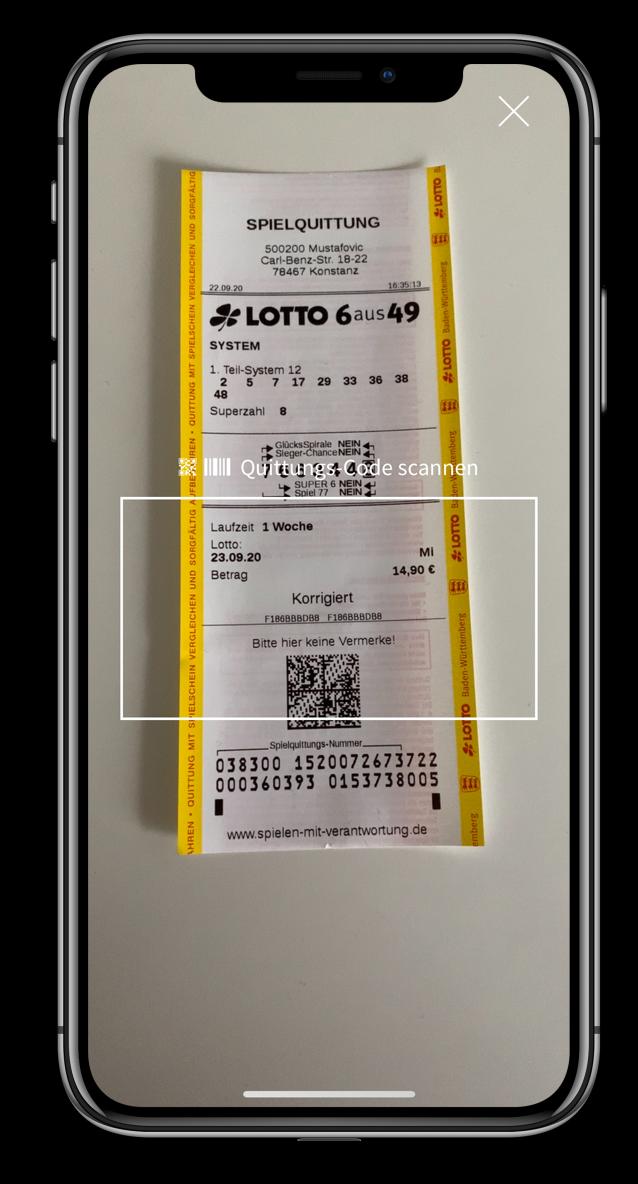 Lotto Scanner - QR- und Barcode Scanner