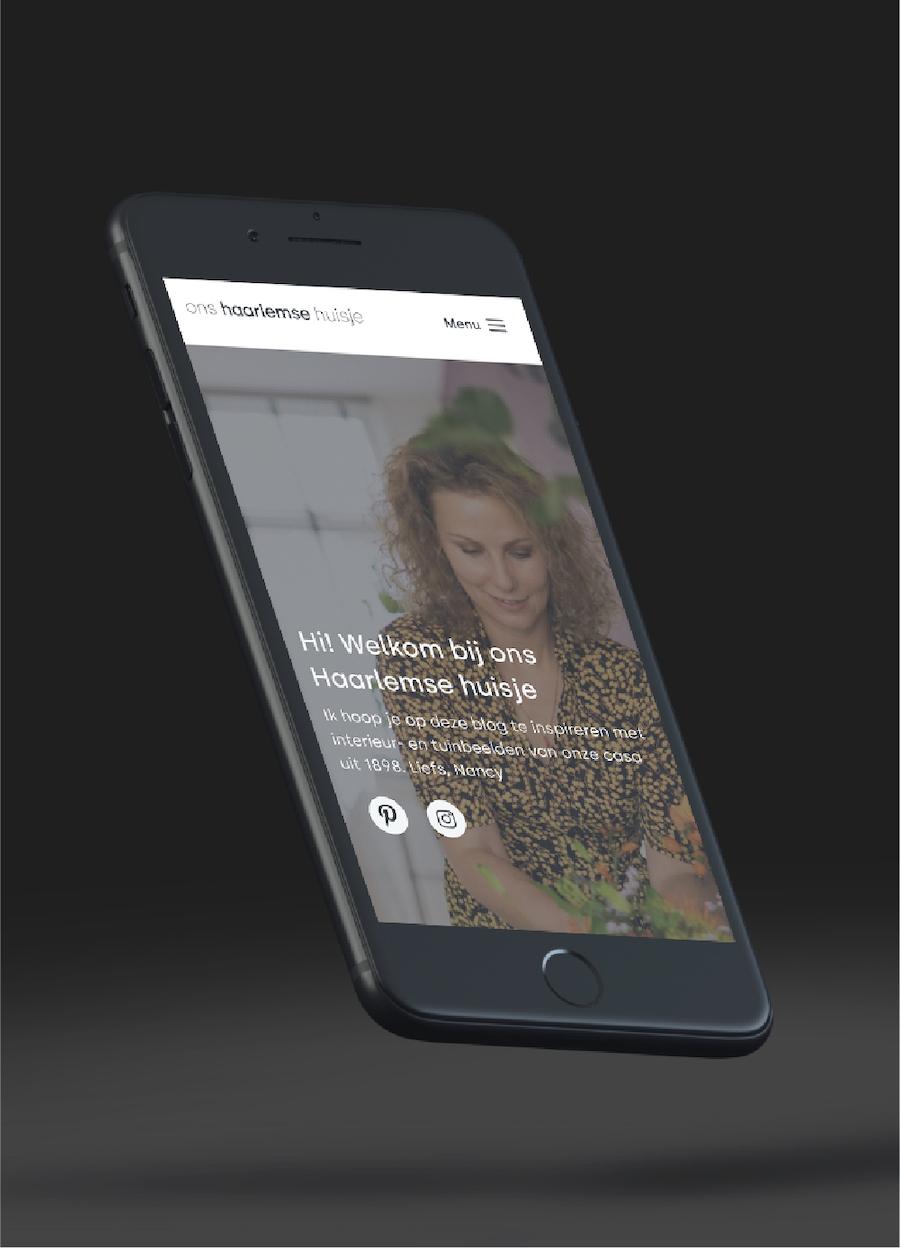 Image of mockup Ons Haarlemse Huisje website