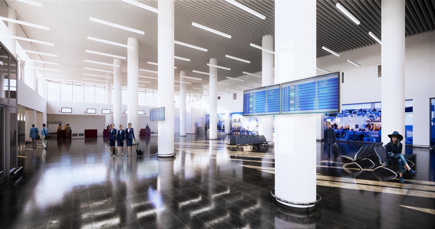 Paros Island Airport Terminal - BIM Architecture Greece - Virtual Reality