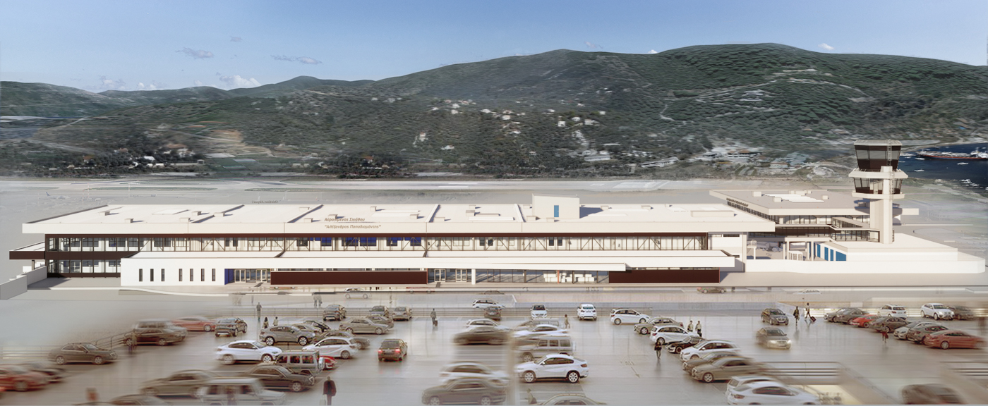 Refurbishment and Expansion of Skiathos International Airport - BIM Architecture Greece