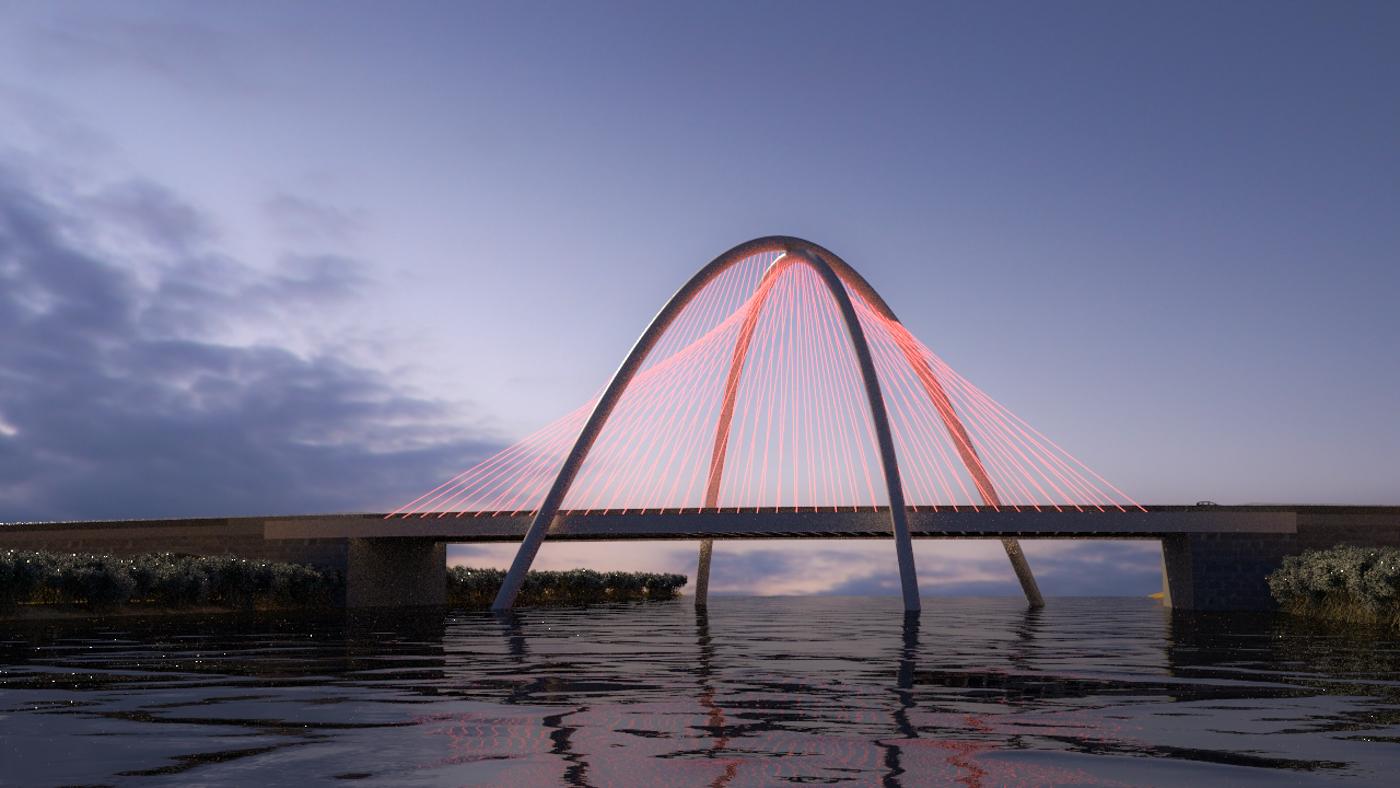 Umm Lafina Bridge Design - BIM Architecture Abu Dhabi UAE