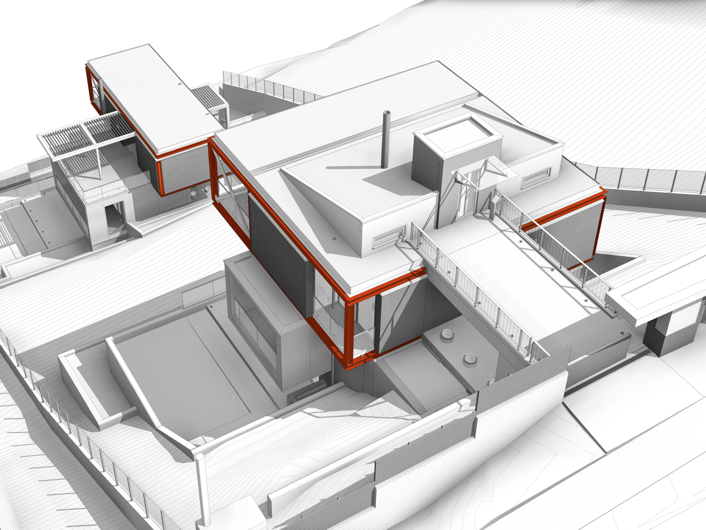 Drafi Residences- BIM Architecture Greece - EBArchitects