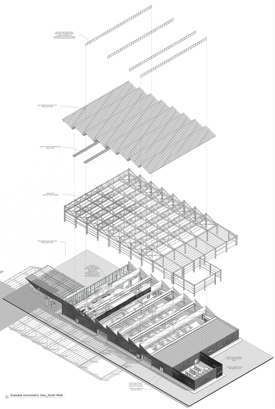 Baggage Facility at the Athens International Airport - BIM Architecture Greece - EB/Architects