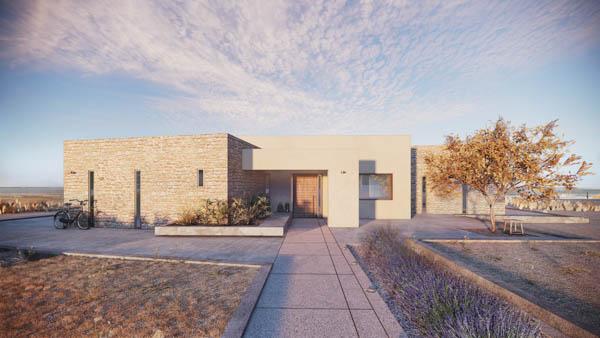 Seafront Villas in Kourouta - BIM Architecture Greece - Interior Design