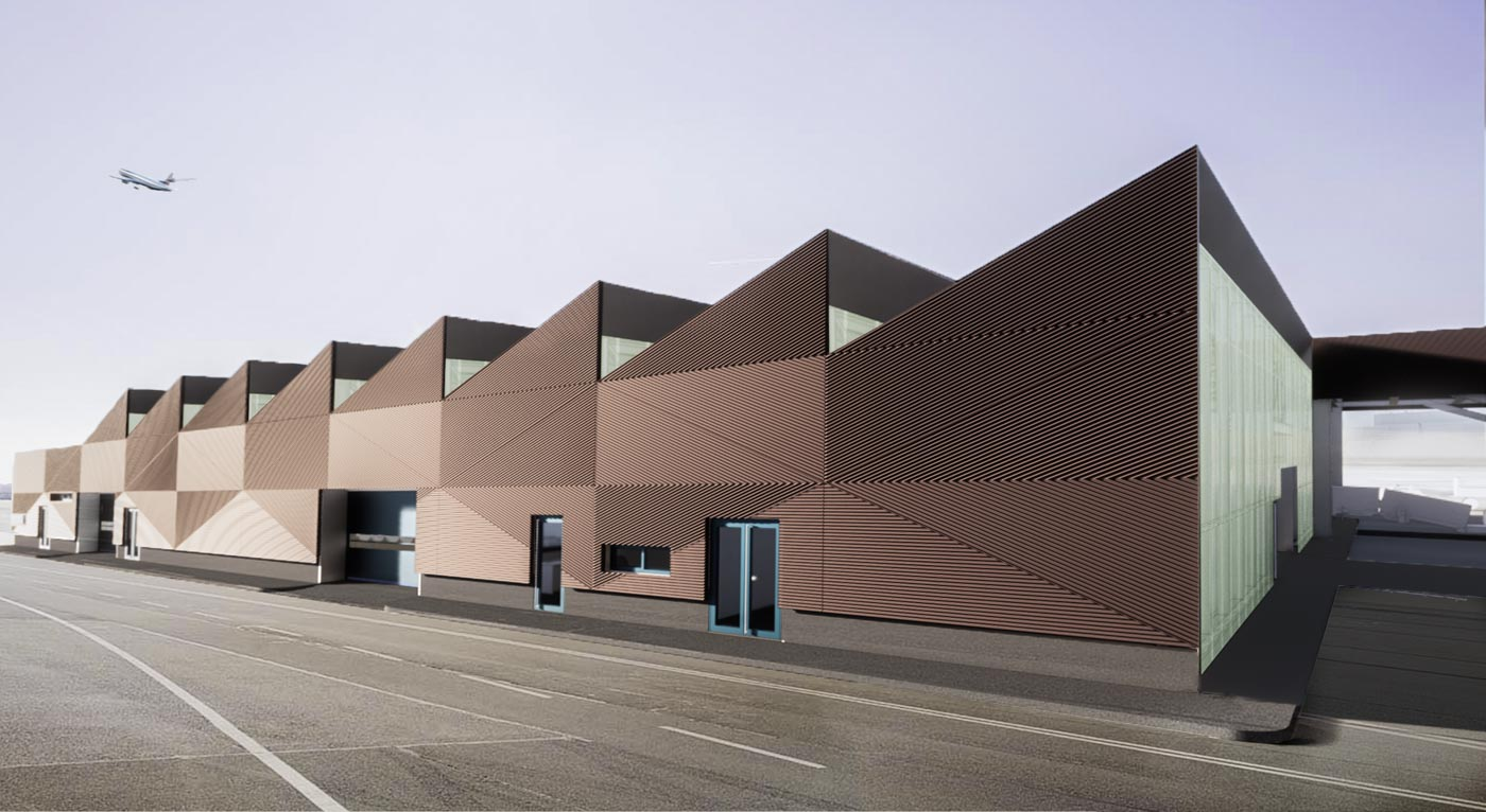 Competition Design for the Baggage Facility (TBF) at the Athens International Airport