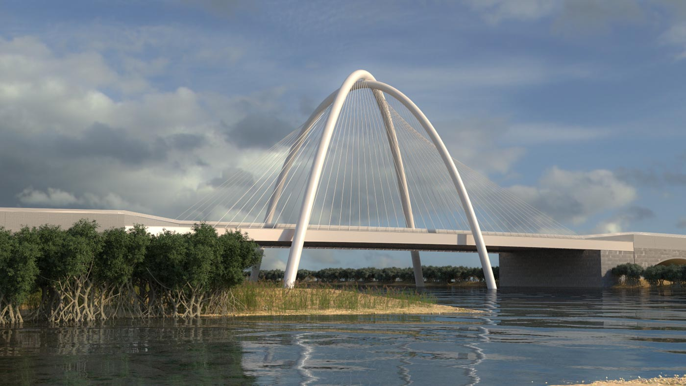 Concept Design for the Iconic Umm Lafina Bridge