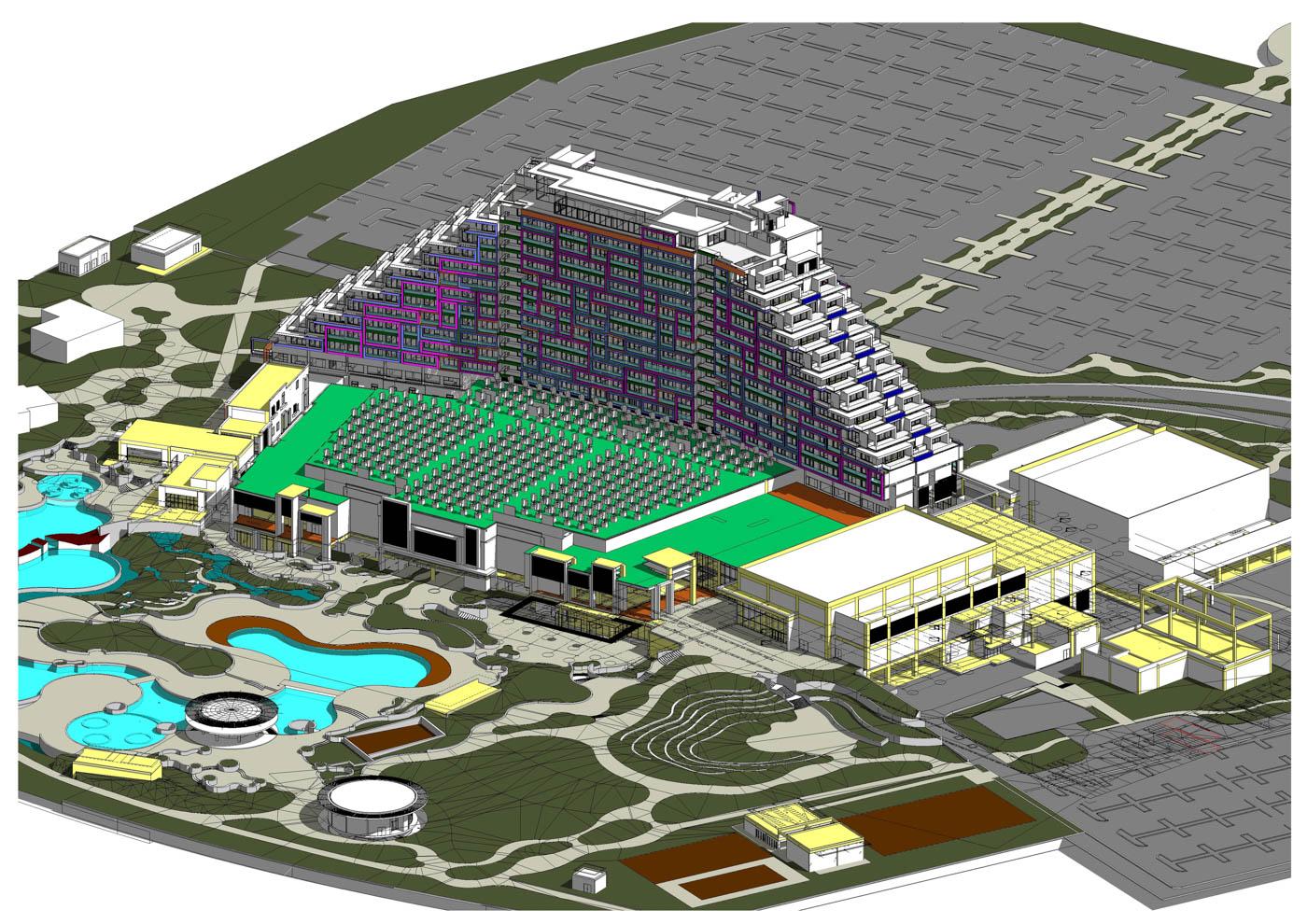 City of Dreams Mediterranean Construction Tender - BIM Architecture Greece - EBArchitects
