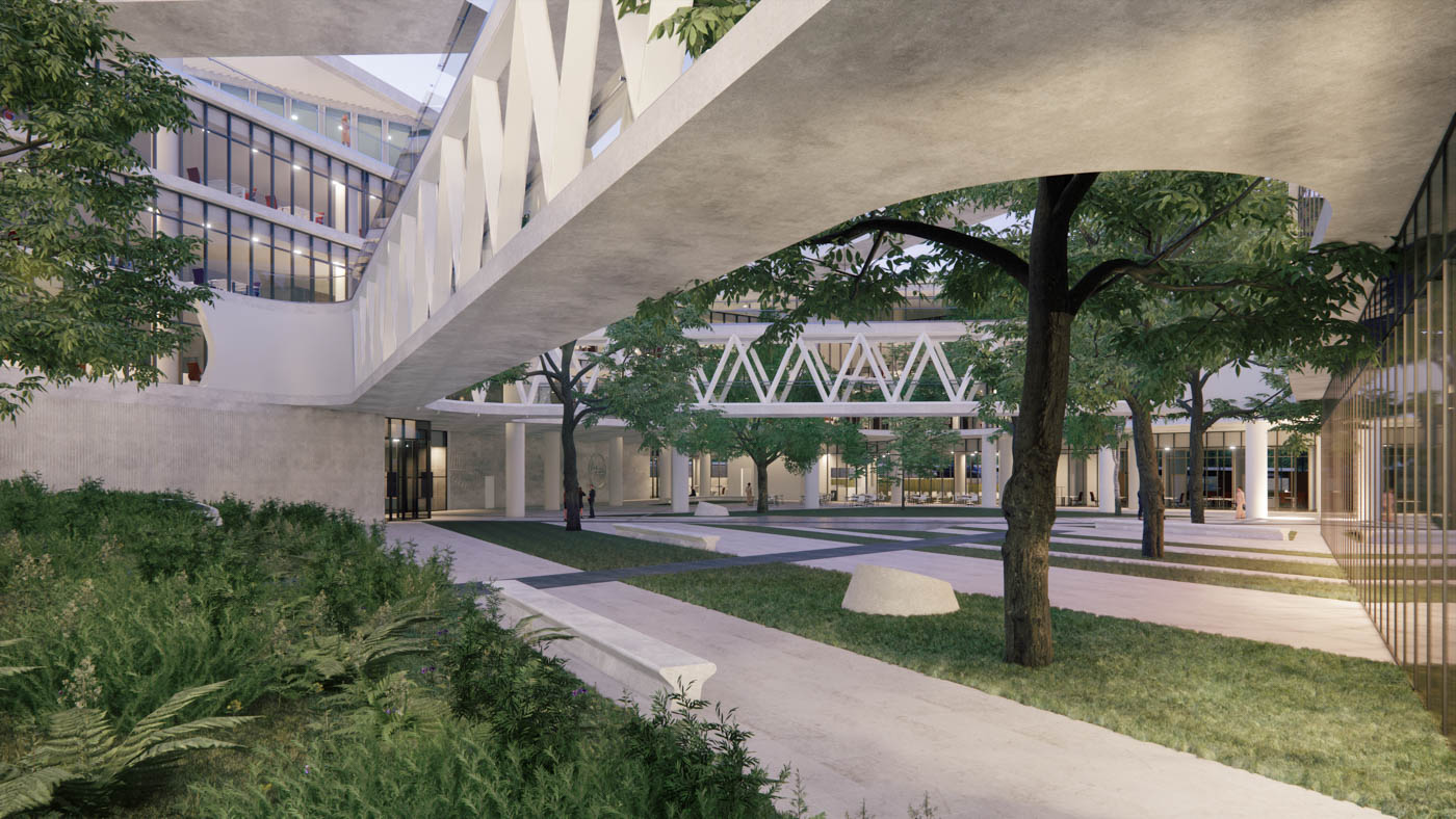 Open-air Atrium and Garden for the New PPC Headquarters / 2020 / Arch. Design EB/Architects