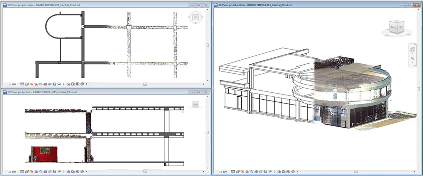 Point Cloud and BIM Model of existing building / Jumbo Tripolis Project / Arch.Design EB/Architects / 2014