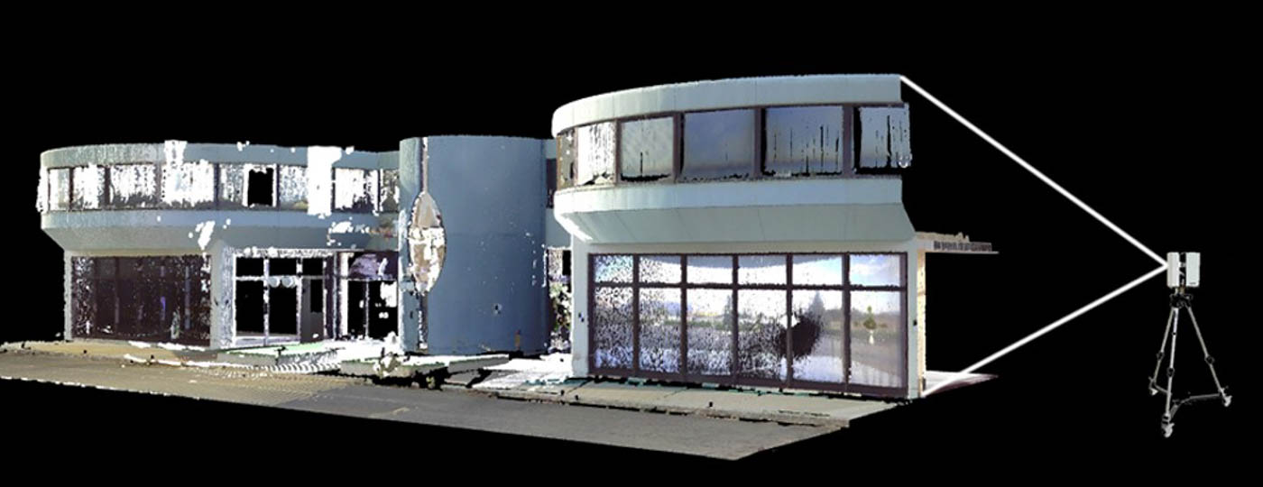 3D Laser Scanning Survey Point Cloud of existing building / Jumbo Tripolis Project / Arch.Design EB/Architects / 2014