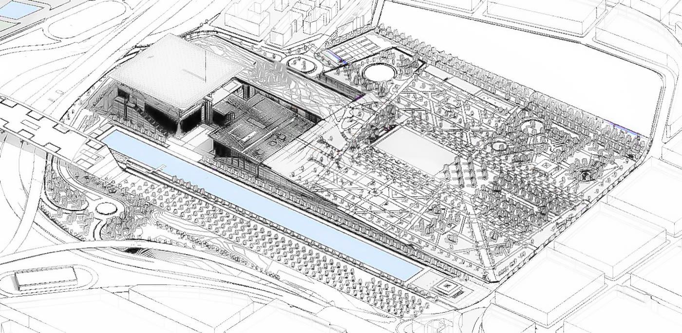 BI Model for the Stavros Niarchos Park / SNFCC / Landscape Design – Deborah Nevins and Associates with  H. Pangalou & Associates