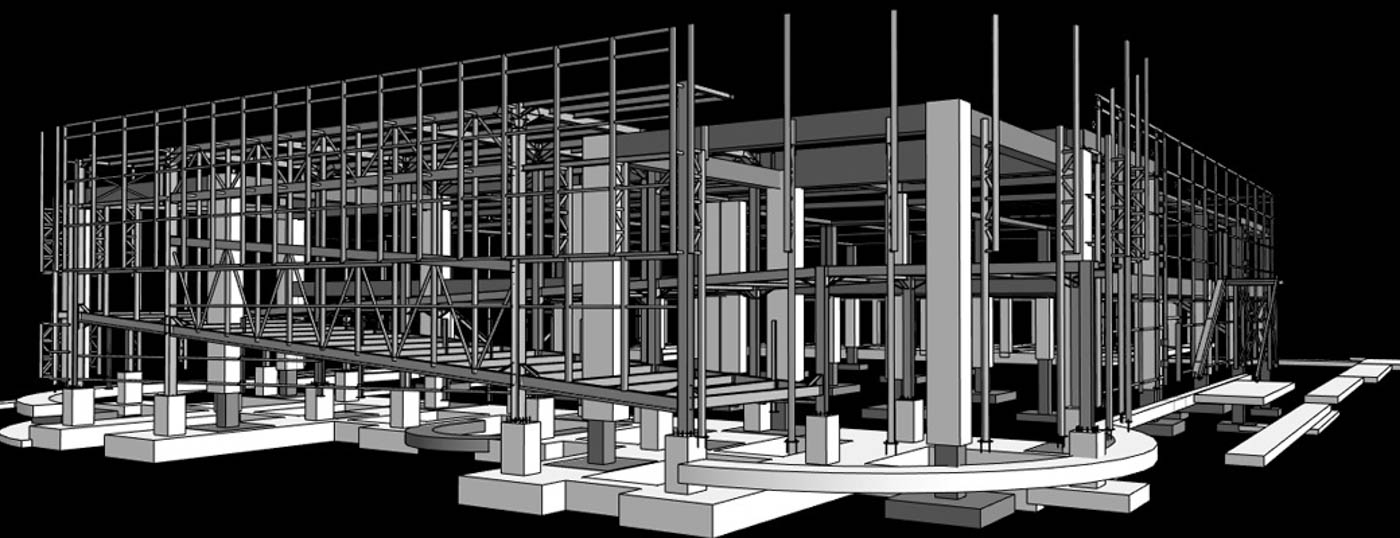Structural Modeling for the Jumbo Retail Shop in Tripolis / 2013 / Arch. Design: EB/Architects