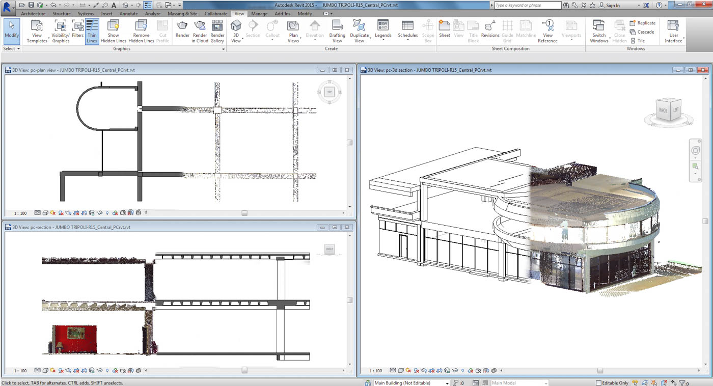 From Point Cloud to Revit Model