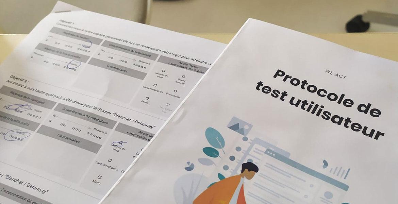 We Act protocole test utilisateur