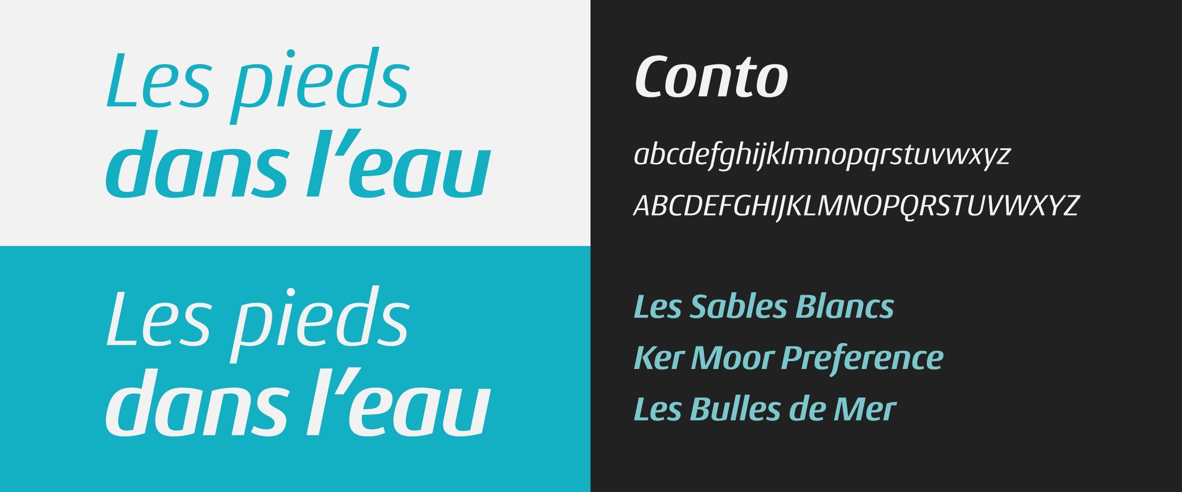 Les pieds dans l'eau typographie identité visuelle