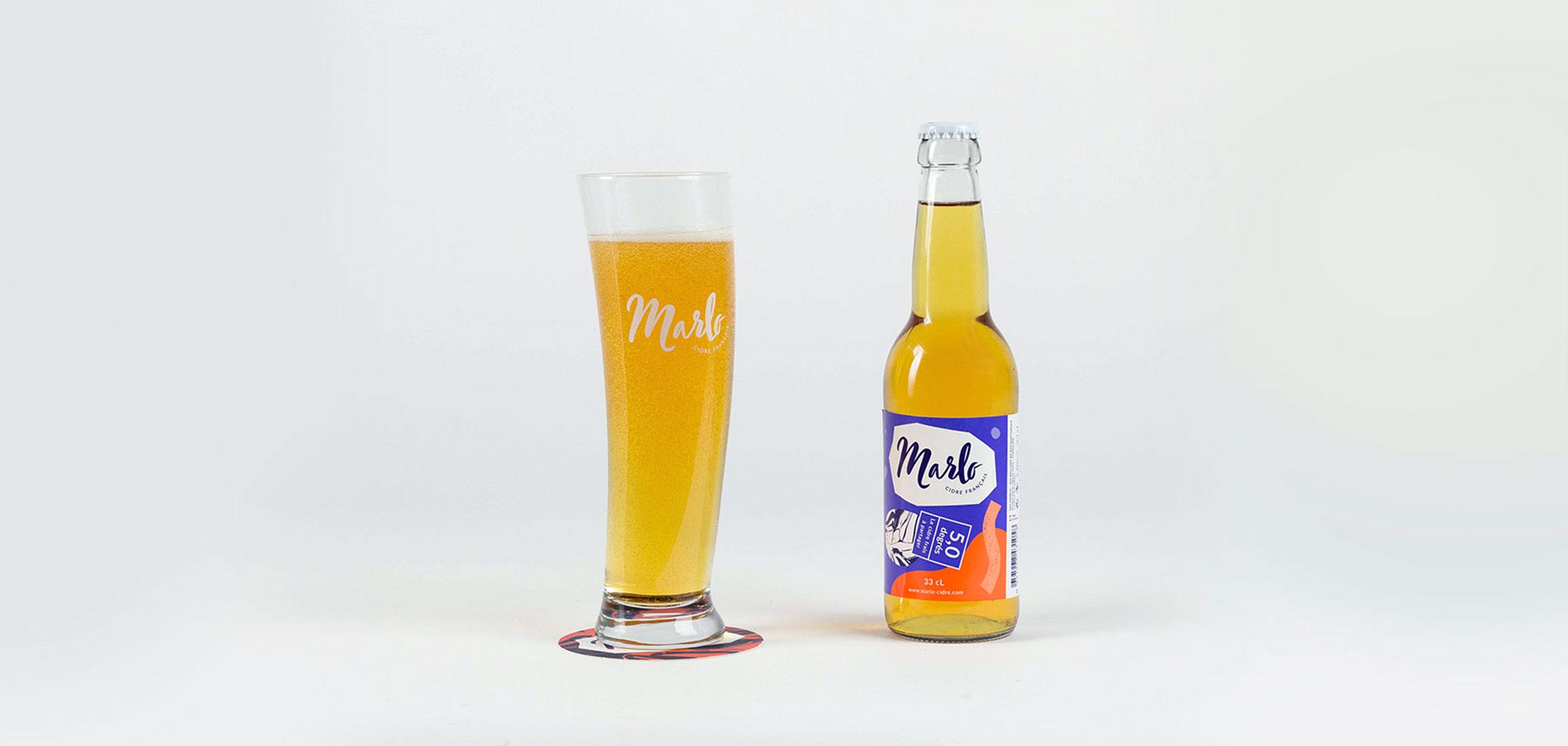 Marlo verre bouteille cidre design