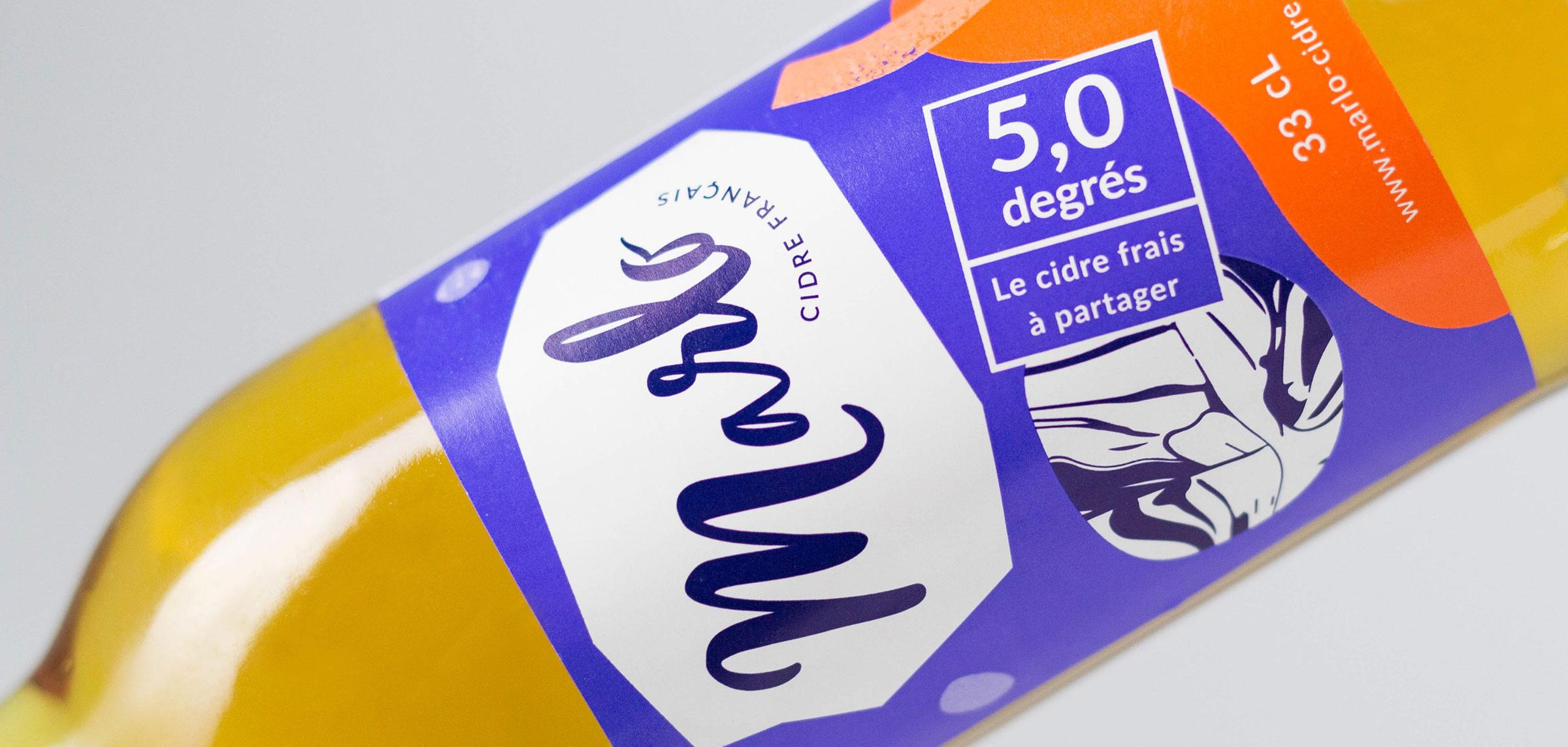 Marlo detail étiquette bouteille cidre