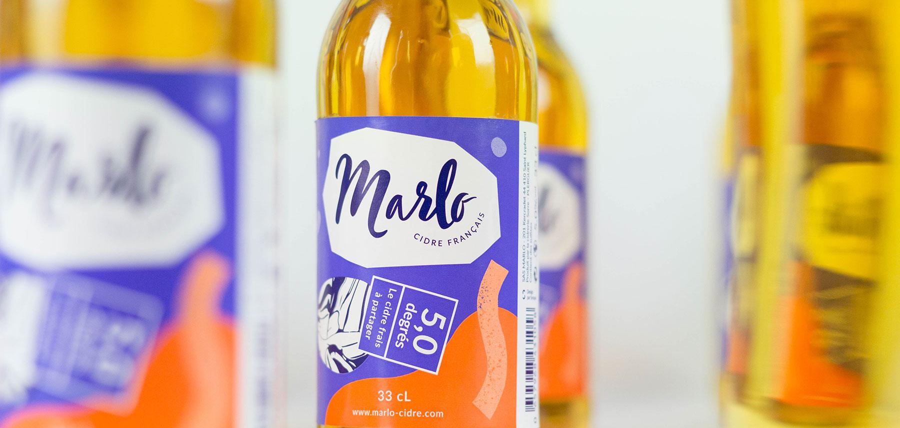 Marlo bouteille étiquette couleurs