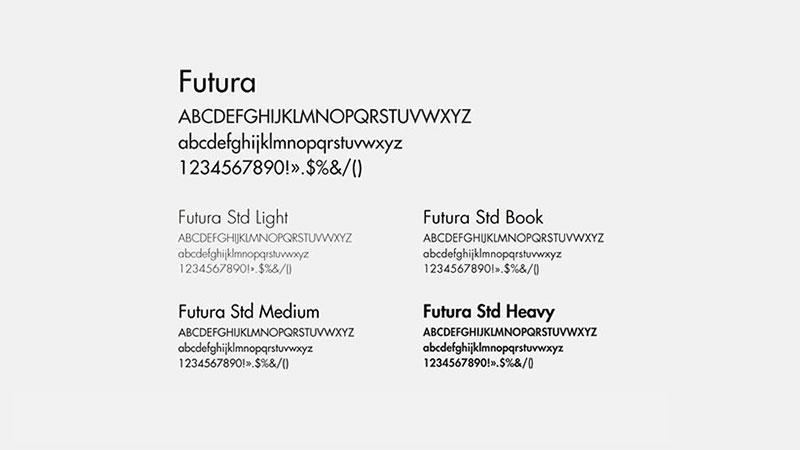 Prael identité visuelle typographie