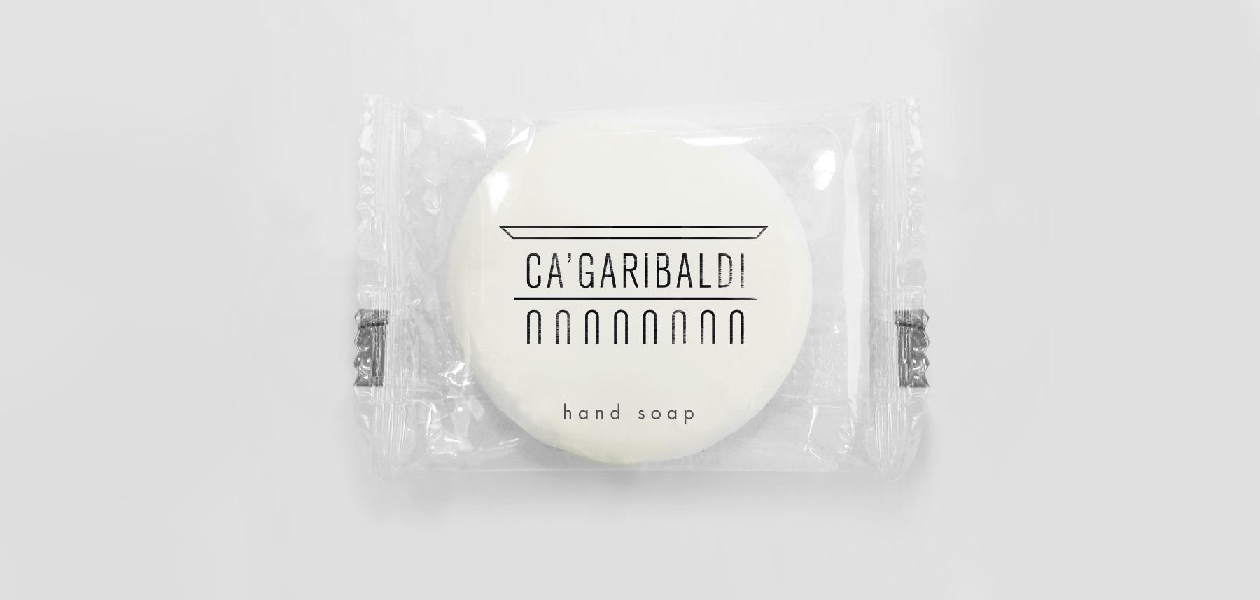 Ca'Garibaldi emballage savon logotype