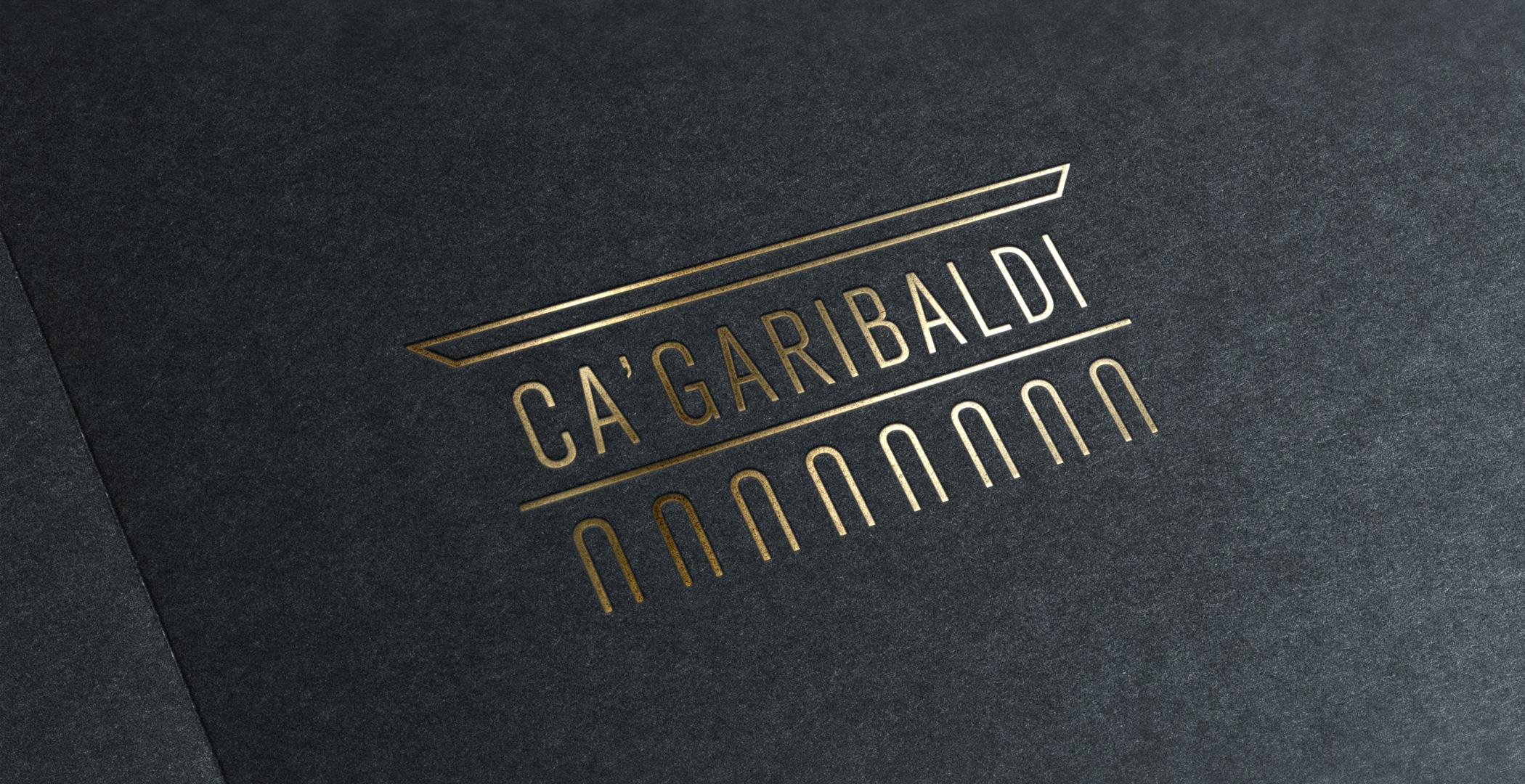 Ca'Garibaldi fond doré logotype