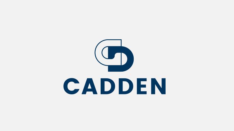 Geod Cadden logotype monochrome bleu